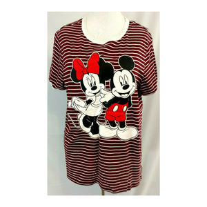 Minnie Mickey Mouse Plus 3X Womens Graphic Tee Top